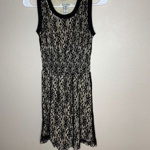 American rag Black and beige lace dress